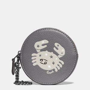 🎁Coach Round Coin Case With Cancer